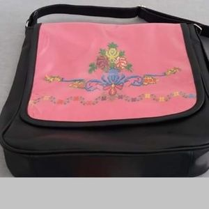 embroidered handbag set women pu leather maqam sho